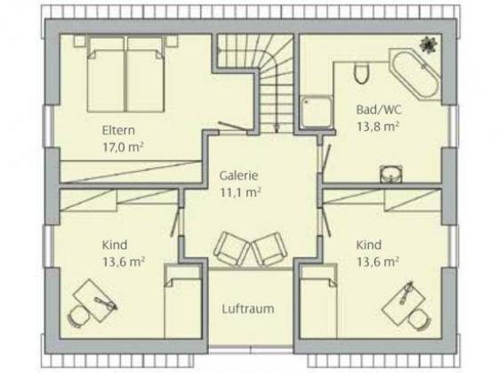 energiesparendes einfamilienhaus mit 6 zimmer 143 m wp und fu bodenheizung kfw 70 in beilstein. Black Bedroom Furniture Sets. Home Design Ideas