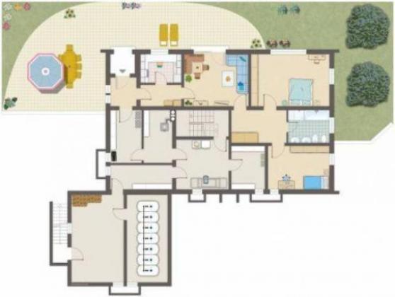 sehr gepflegtes freistehendes 1 familien haus mit elw 263 m wfl balkon terrasse. Black Bedroom Furniture Sets. Home Design Ideas